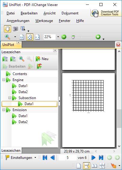 File=>PDF-Export — UniPlot Documentation